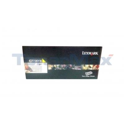 LEXMARK C770N RP TONER CARTRIDGE YELLOW TAA 15K